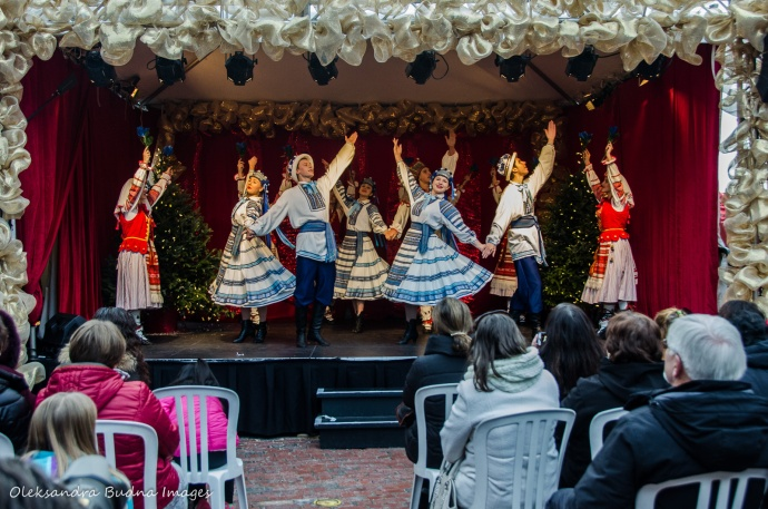 Arkan Dance Company performing at Christmas Market at the Distillery District in Toronto